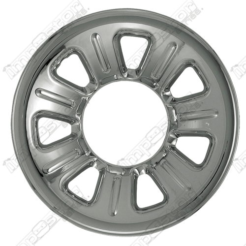 "Mazda B Series  2001-2010 Chrome Wheel Covers, 7 Dimpled Spokes (15"" Wheels)"