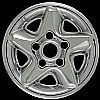 2000 Dodge Ram  Chrome Wheel Covers, 5 Star (16