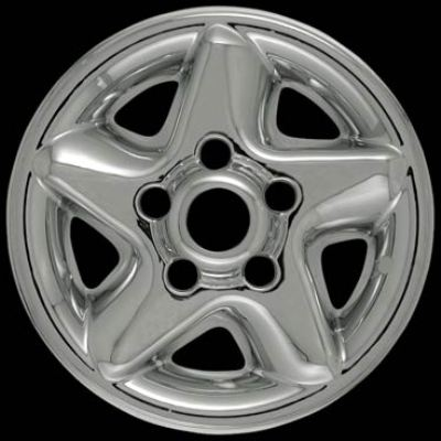 Dodge Ram 1996-2001 Chrome Wheel Covers, 5 Star (16