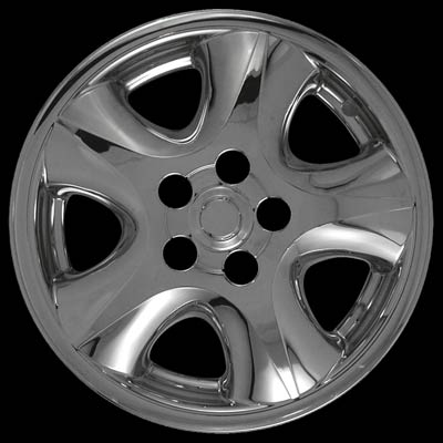 "Ford Taurus 2000-2005 Chrome Wheel Covers, 5 Rounded Spokes (16"" Wheels)"