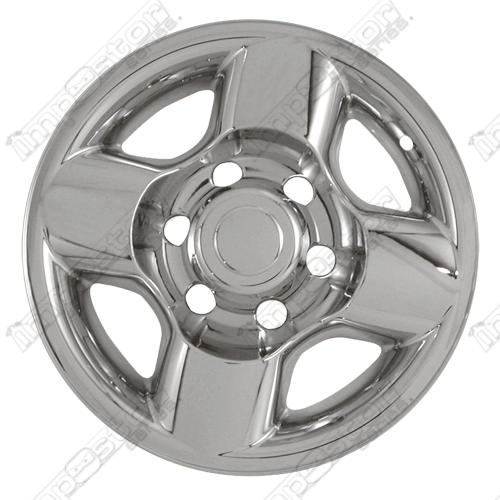 "Nissan Frontier  2000-2002 Chrome Wheel Covers, 4 Rounded Spokes (16"" Wheels)"
