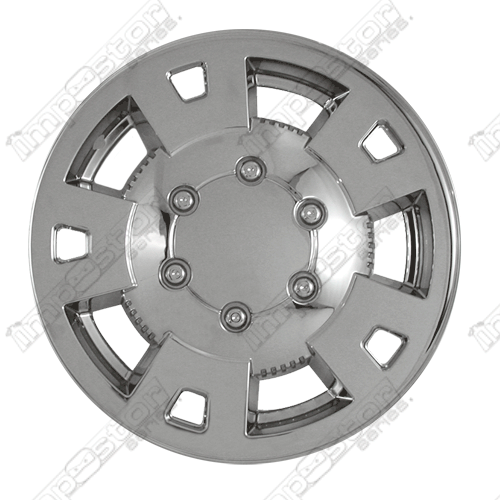 "Chevrolet Colorado  2004-2008 Chrome Wheel Covers, 5 Flat Spokes W Dimpled (15"" Wheels)"
