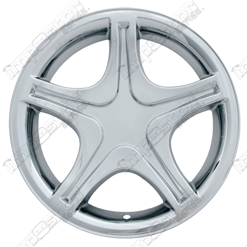 "Ford Mustang  1999-2004 Chrome Wheel Covers, 5 Star With Indent (17"" Wheels)"
