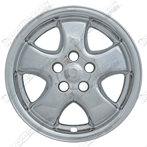 "Ford Taurus  2003-2007 Chrome Wheel Covers, 5 Flat Spokes (16"" Wheels)"