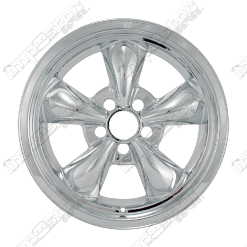 Ford Mustang  1994-2004 Chrome Wheel Covers, 5 Funnel Spokes (17