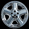 "Dodge Stratus 2004-2006 Chrome Wheel Covers, 5 Spokes With Indent (16"" Wheels)"