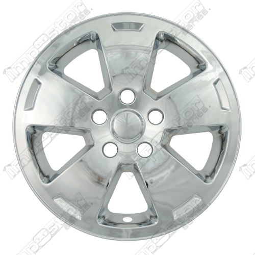"Chevrolet Impala  2006-2010 Chrome Wheel Covers, 5 Flat Spoke With Indent (16"" Wheels)"
