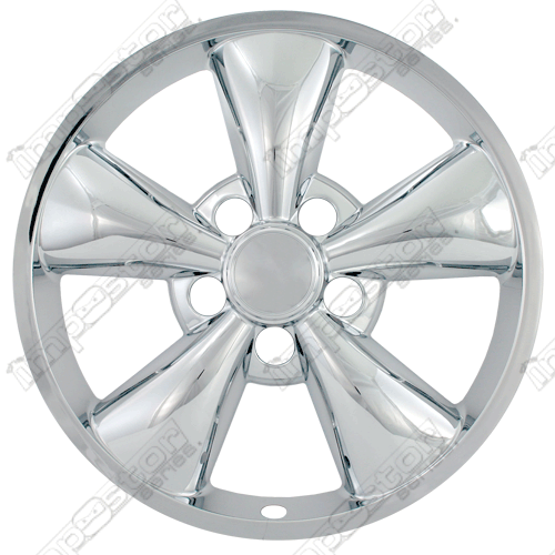 "Ford Mustang  2005-2009 Chrome Wheel Covers, 5 Flat Funnel Spokes (17"" Wheels)"