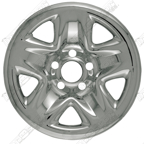 "Toyota Tacoma  2001-2004 Chrome Wheel Covers, 5 Dimpled Spokes (15"" Wheels)"
