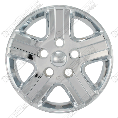 "Dodge Ram  2006-2008 Chrome Wheel Covers, 5 Flat Spoke (17"" Wheels)"