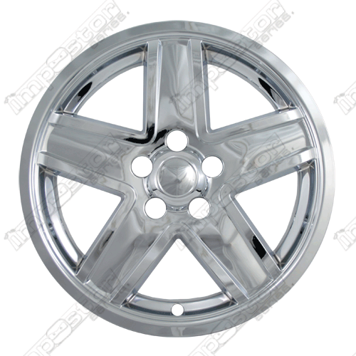 "Jeep Compass  2007-2010 Chrome Wheel Covers, Silver Wheel Only (17"" Wheels)"
