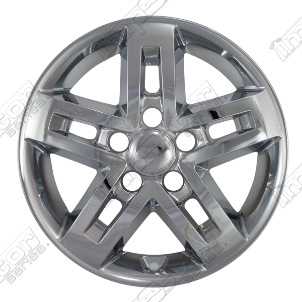 "Kia Soul  2010-2011 Chrome Wheel Covers, 5 Split Spoke Silver Wheel Only (16"" Wheels)"