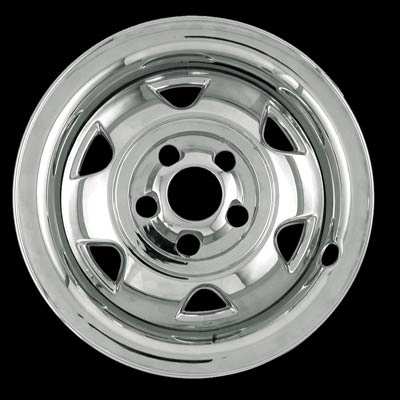 "Jeep Wrangler 1988-1995 Chrome Wheel Covers, 6 Rounded Triangles (15"" Wheels)"