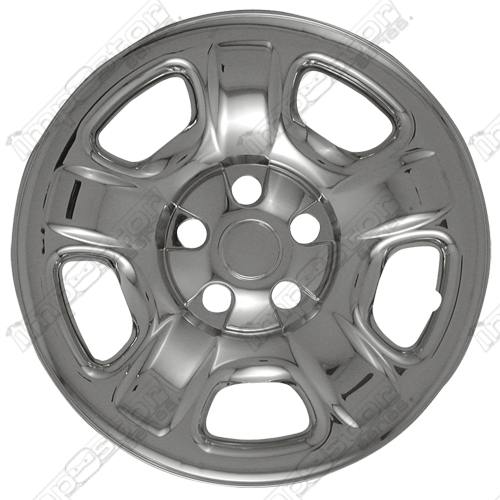 "Jeep Liberty  2002-2007 Chrome Wheel Covers, 5 Raised Dimpled Spokes (16"" Wheels)"