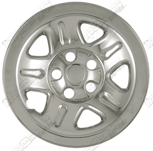 Jeep Wrangler  2002-2006 Chrome Wheel Covers, 5 Dimpled Spokes (15
