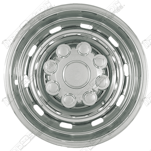 Dodge Ram 2500/3500 2003-2011 Chrome Wheel Covers, 10 Rounded Slots (17