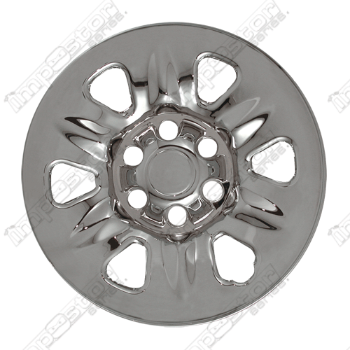 "Nissan Titan  2004-2007 Chrome Wheel Covers, 6 Rounded Triangles (17"" Wheels)"