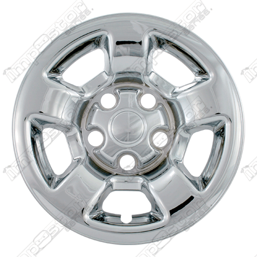 "Dodge Dakota  2005-2011 Chrome Wheel Covers, 5 Flat Spokes (16"" Wheels)"