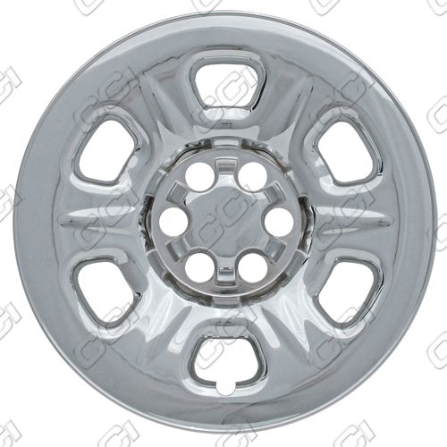"Nissan Frontier 2005-2010 Chrome Wheel Covers, 6 Raised Dimple Spokes (15"" Wheels)"