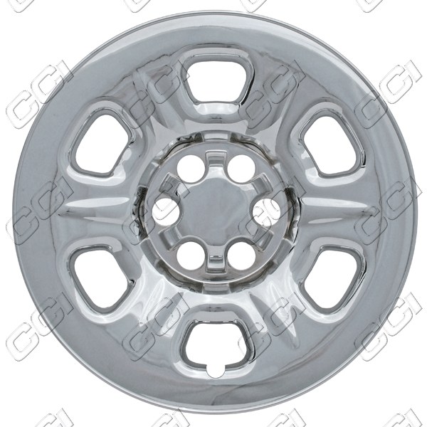 "Nissan Frontier  2005-2012 Chrome Wheel Covers, 6 Raised Dimpled Spokes (15"" Wheels)"