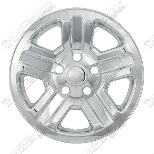 "Jeep Wrangler Sport 2007-2013 Chrome Wheel Covers, 5 Indented Spokes (16"" Wheels)"