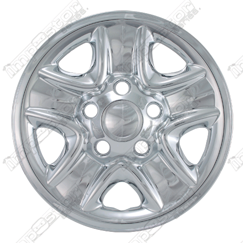 "Toyota Tundra  2007-2013 Chrome Wheel Covers, 5 Indented Spokes (18"" Wheels)"