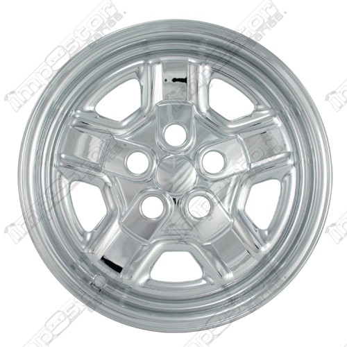 "Jeep Patriot Sport 2007-2012 Chrome Wheel Covers, 5 Indented Spokes (16"" Wheels)"