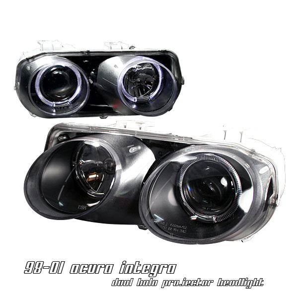 Acura Integra 1998-2001 Black Projector Headlights