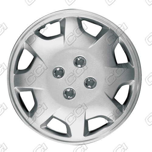 "Honda Accord  1998-2002, 15"" 8 Spoke Silver Wheel Covers"