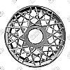 "Ford Crown Victoria  1998-2002, 16"" Lacy Spoke Chrome Wheel Covers"