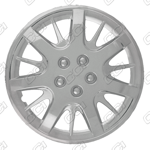 "Chevrolet Impala  2000-2011, 16"" 7 Split Spoke Silver Wheel Covers"