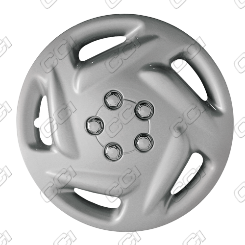 "Dodge Caravan  1996-2000, 15"" 5 Slot Silver Wheel Covers"
