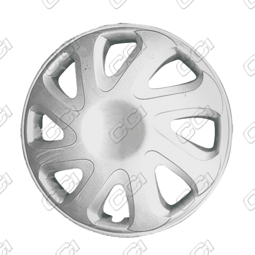 "Toyota Corolla  2000-2002, 14"" 8 Directional Spoke Silver Wheel Covers"