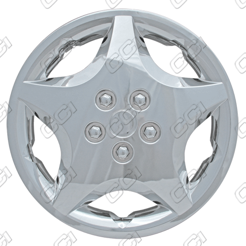 "Chevrolet Cavalier  2000-2005, 14"" 5 Spoke Silver Wheel Covers"