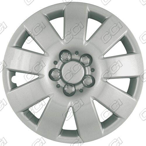 "Toyota Corolla  2000-2003, 15"" 9 Spoke Silver Wheel Covers"