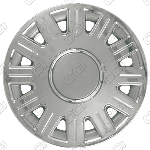 "Ford Crown Victoria  2003-2008, 16"" 12 Spoke Chrome / Silver Wheel Covers"
