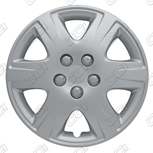 "Toyota Corolla  2005-2008, 15"" 6 Spoke Silver Wheel Covers"
