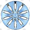 "2009 Honda Accord  , 16"" 10 Spoke - Silver Wheel Covers"
