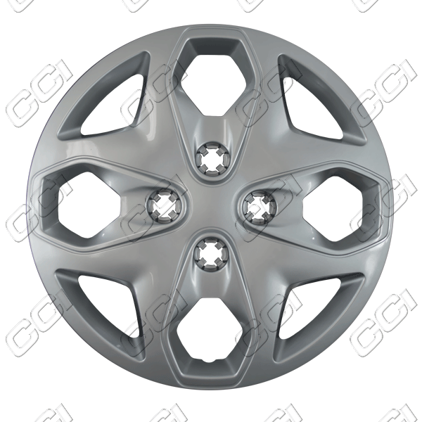 "Ford Fiesta  2011-2013, 15"" 4 Dbl Spoke, Silver Wheel Covers"