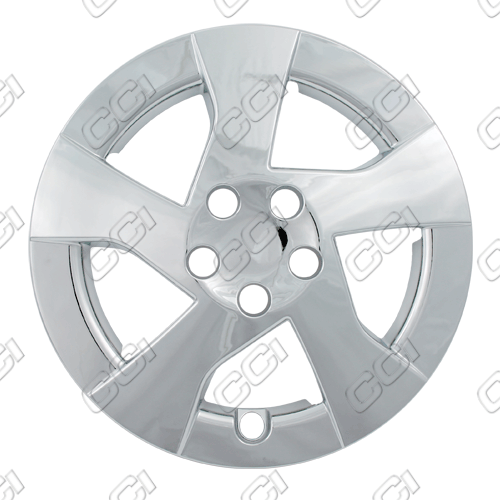 "Toyota Corolla  2010-2011, 15"" Directional 5 Spoke Silver Wheel Covers"