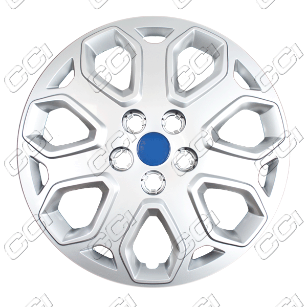 "Ford Focus  2012-2012, 16"" 7 Y Spokes - Silver Wheel Covers"