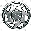 "1996 Ford E-Series  , 16"" Silver W/ Chrome Ring Wheel Covers"
