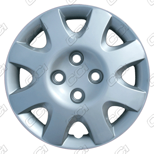 "Honda Civic  1998-2000, 14"" 8 Spoke Silver Wheel Covers"