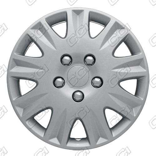 "Honda Civic  2006-2011, 15"" 9 Spoke - Silver Wheel Covers"