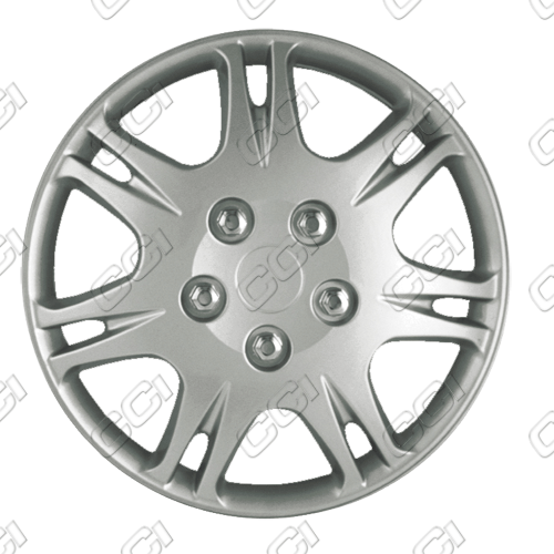 "Mitsubishi Galant  1999-2003, 15"" 7 Slot Directional Silver Wheel Covers"