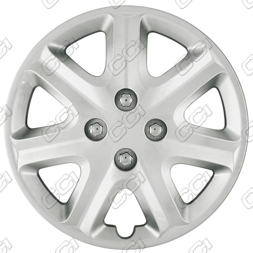 "Honda Civic  2003-2005, 15"" 7 Spoke - Silver Wheel Covers"