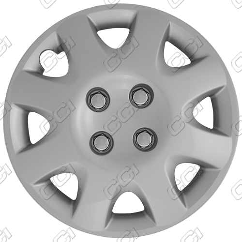 "Honda Civic  1998-2000, 14"" 8 Spoke - Silver Wheel Covers"