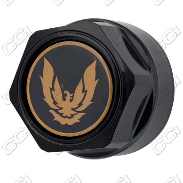 Pontiac Firebird  1984-1992 , Black W/ Gold Bird Wheel Center Caps
