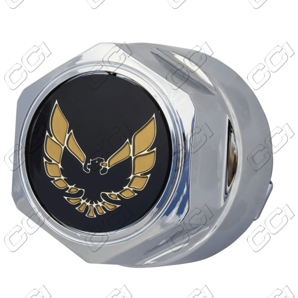 Pontiac Firebird  1984-1992 , Chrome W/ Gold Bird Wheel Center Caps