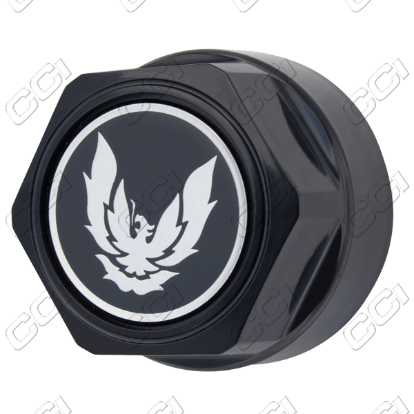 Pontiac Firebird  1984-1992 , Black W/ Silver Bird Wheel Center Caps